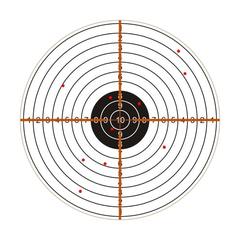 Mala agrupación de disparos, posible mira dañada