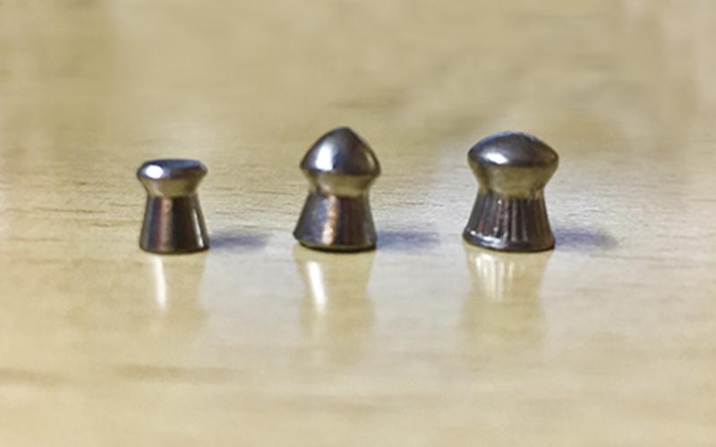 calibres estándar de carabinas de aire comprimido