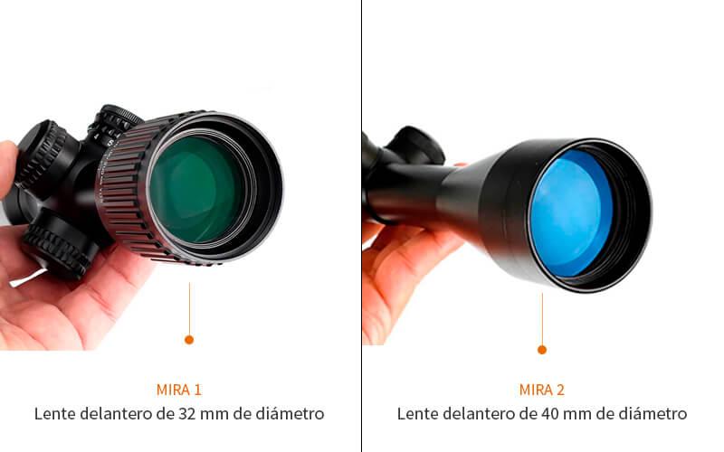 que significa el numero de la derecha de una mira telescópica o visor