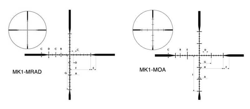 Retículas de mira telescópica nikon m-tactical