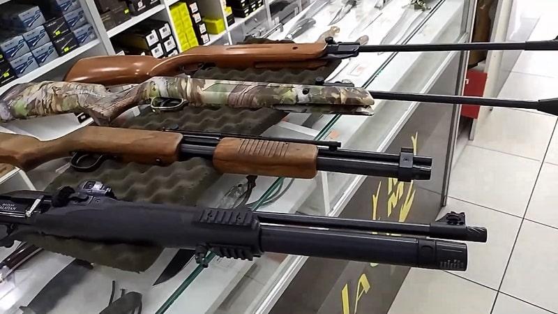 distintas tipos de rifles, carabinas y escopetas de aire comprimido